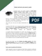 TEORIA POSITIVISTA DE AUGUSTO COMTE