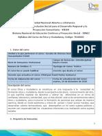 Formato-Syllabus del curso Ética y Ciudadanía