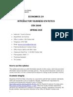 ECON 231 Term Paper
