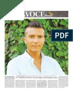 GIOVENTÙ BRILLANTE SCOPRIAMO IL RICCIONESE ANDREA SPEZIALI, IL GOLDEN BOY DEL LIBERTY IN ITALIA', Cover La Voce