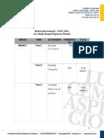 Calendarización Redacción General 1300 I PAC 2021