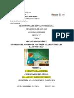 Actividades de Geometría. Organizador Grafico de La Teoría de Van Hiele y Problemas de Area, Perimetro y Volumen.