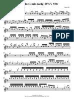 Fugue BWV 578 Gmin (Orig) Score and Parts