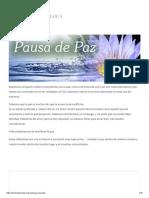 Pausa de Paz – Brahma Kumaris México