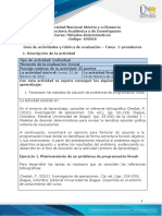 Guia de actividades y Rúbrica de evaluación - Tarea 1 - Presaberes