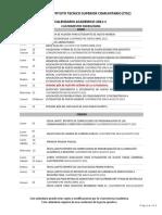 CALENDARIO ACADEMICO  ENERO-ABRIL 2021-1