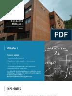 semana 1 de Matematica Aplicada