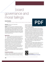 Enron, board governance and moral failing