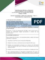 Guía de actividades y rúbrica de evaluación - Momento Inicial - Fase 1 - Autoevaluación de Competencias TIC