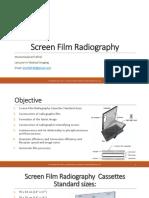 Screen film radiography