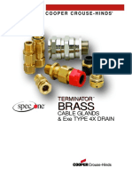 Brass Cable Glands Brochure 0703