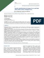 A Study of Various Hepatic Manifestations in Dengu