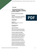 Gobierno de Santa Fe - Construcción Centro Artístico Metropolitano Rafaela - Ciudad de Rafaela - Departamento Castellanos - Provincia de Santa Fe