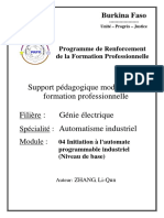 18. Automatisme industriel_Initiation à l'automate programmable industriel (Niveau de base)
