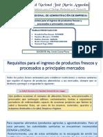 Requisitos para exportación e importación