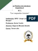 T.P n°1 Lit. Arg II_ Vanguardias Literarias