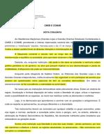 MAÇONARIA - Nota Conjunta - CMSB  COMAB