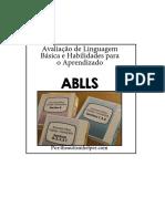 Kit Ablls Material - TRADUZIDO