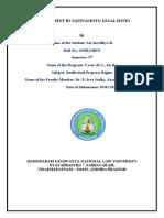 Original 2018LLB076 - 5th Semester - IPR - Research Paper