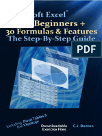 2019 Microsoft Excel for Beginners + 30 Formulas & Features the Step-By-Step Guide
