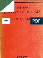 A Short History of Burma