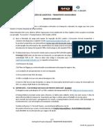 Instruções de logística Projeto Aripuanã