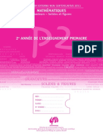Evaluation Non Certificative - 2011 - 2e Primaire - Mathematiques - Carnet de l Eleve (Ressource 8865)