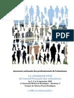 Livret CFDU - 14 ième Université d'été / Bordeaux