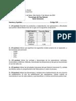 Examen de Mesa UMSS TECNOLOGIA DEL GAS NATURAL
