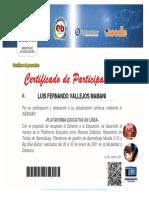 Certificado Plataforma Educativa en Linea