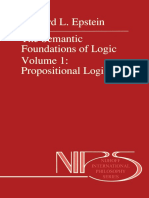 (Nijhoff International Philosophy Series 35) Richard L. Epstein (Auth.) - The Semantic Foundations of Logic Volume 1_ Propositional Logics-Springer Netherlands (1990)