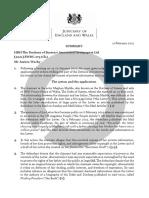 Duchess of Sussex Press Summary [2021] EWHC 273 (Ch)
