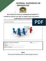 GUIA 1 - ORIENTACIÓN PEDAGÓGICA PRIMER PERÍODO 2021
