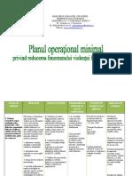 Planul operaţional minimal
