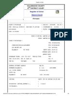Register of Action Johnson 2019 Home Invasion