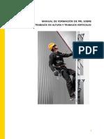 - Manual de Formación de Prl Sobre Trabajos en Altura y Trabajos Verticales