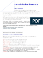 Manual para subtitulos formato SSA o ASS