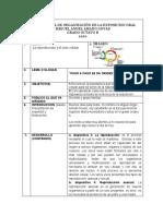 PLAN TEXTUAL DE ORGANIZACIÓN DE LA EXPOSICION ORAL