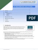 CyberTech - Cisco Active IP Recording (How to Design)