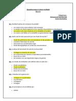 Questionnaire à choix multiple (QCM) ENSAM - II - Corrigé (1)