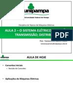 Aula 2 - O sistema elétrico - geração, transmissão e distribuição - Eletromagnetismo 1