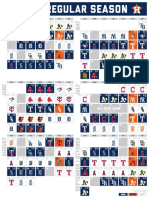 Astros' 2021 schedule