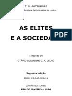 9.BOTTOMORE, T_As Elites e a Sociedade