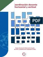 Coordinación docente horizontal y vertical
