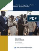Paz y conflictos internacionales