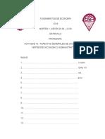 ACTIVIDAD 10. ASPECTOS GENERALES DE LAS DIFERENTES VERTIENTES ECONOMICO ADMINISTRATIVAS
