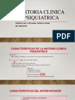 HISTORIA CLINICA PSIQUIATRICA POWER POINT