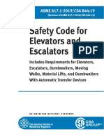 Elevator Safety Code ASME A17 1 NMAppE 2019 Accessible