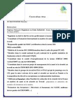 CV baccouche houcine (OHSAS 18001)