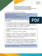 Guía única para el desarrollo del componente práctico del curso Practicas Profesionales Escenario 1